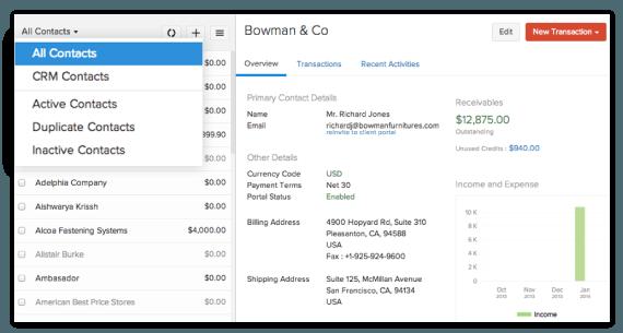 zoho invoice invoicing made easy